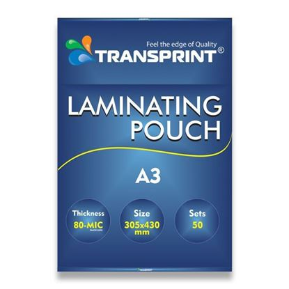 Picture of TRANSPRINT LAMINATING POUCH A3 80-MIC
